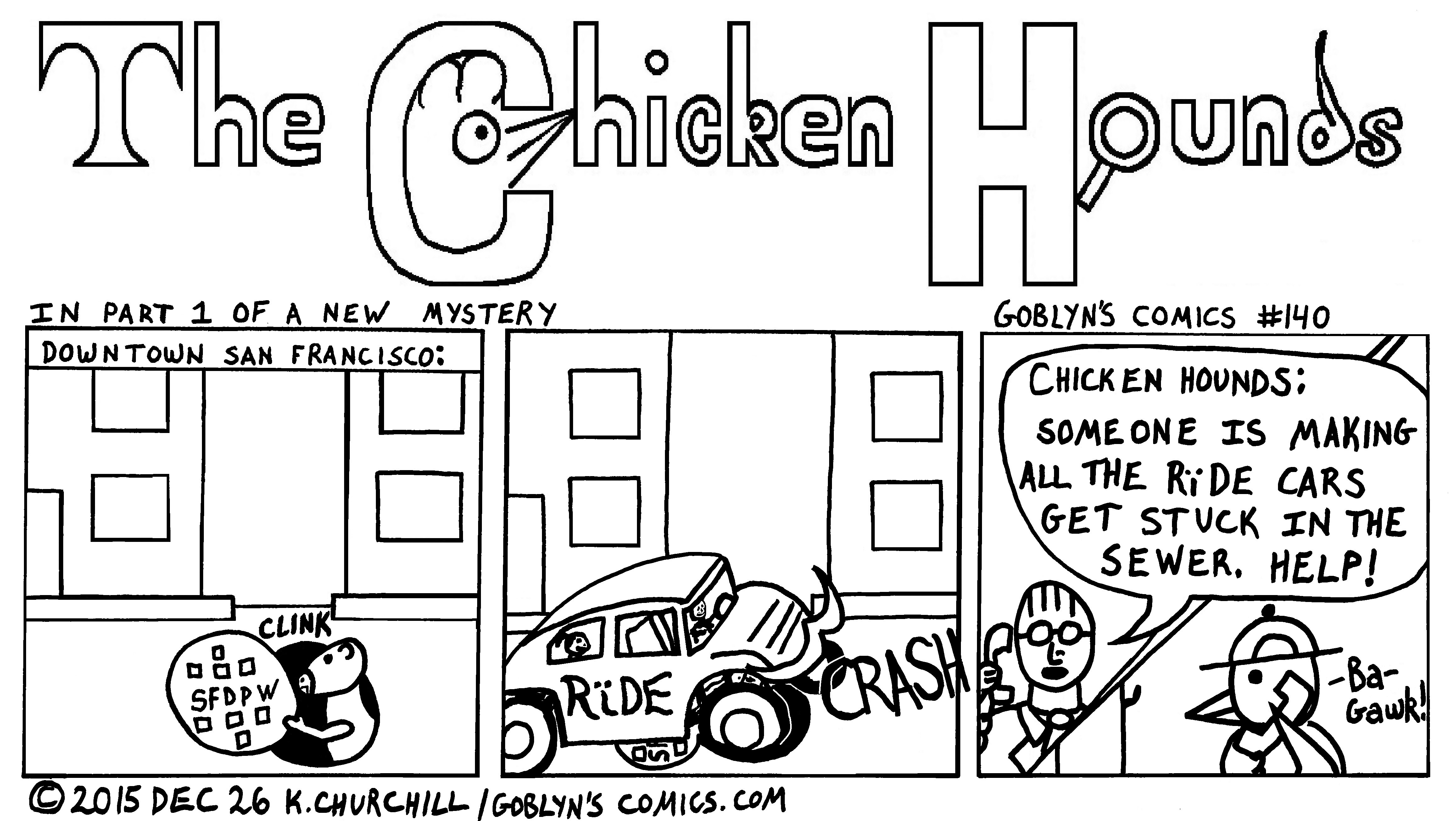 The Chicken Hounds in a new Mystery