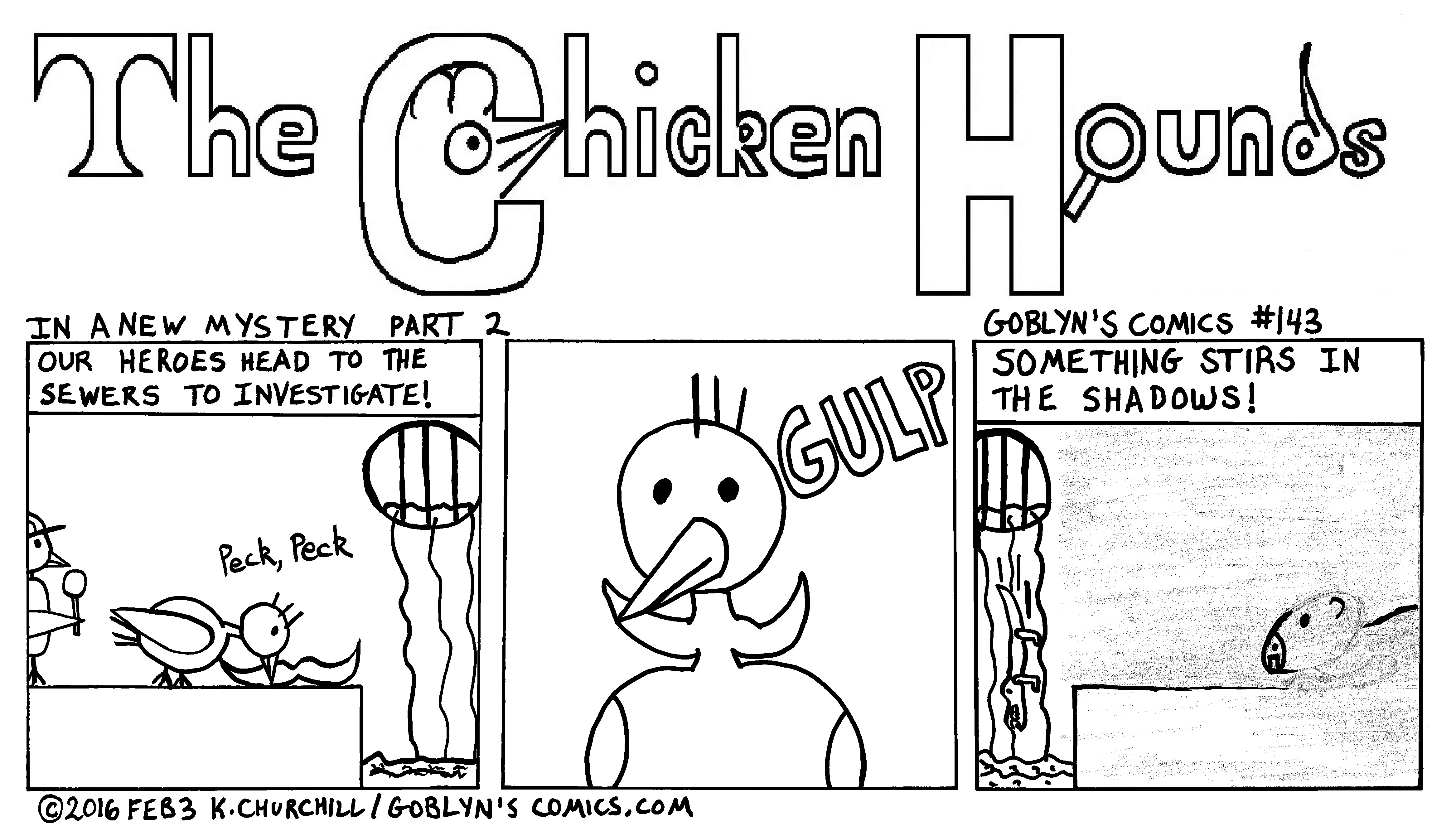Chicken Hounds in the Sewers