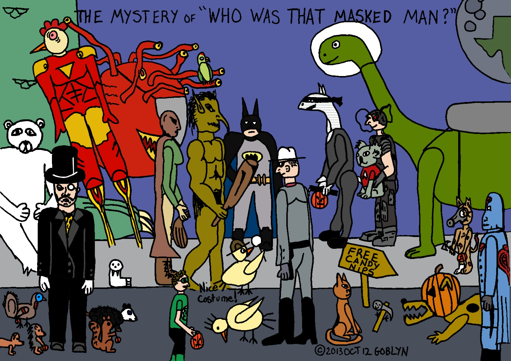 "The Chicken Hounds in the mystery of ""Who was that Masked Man?"""