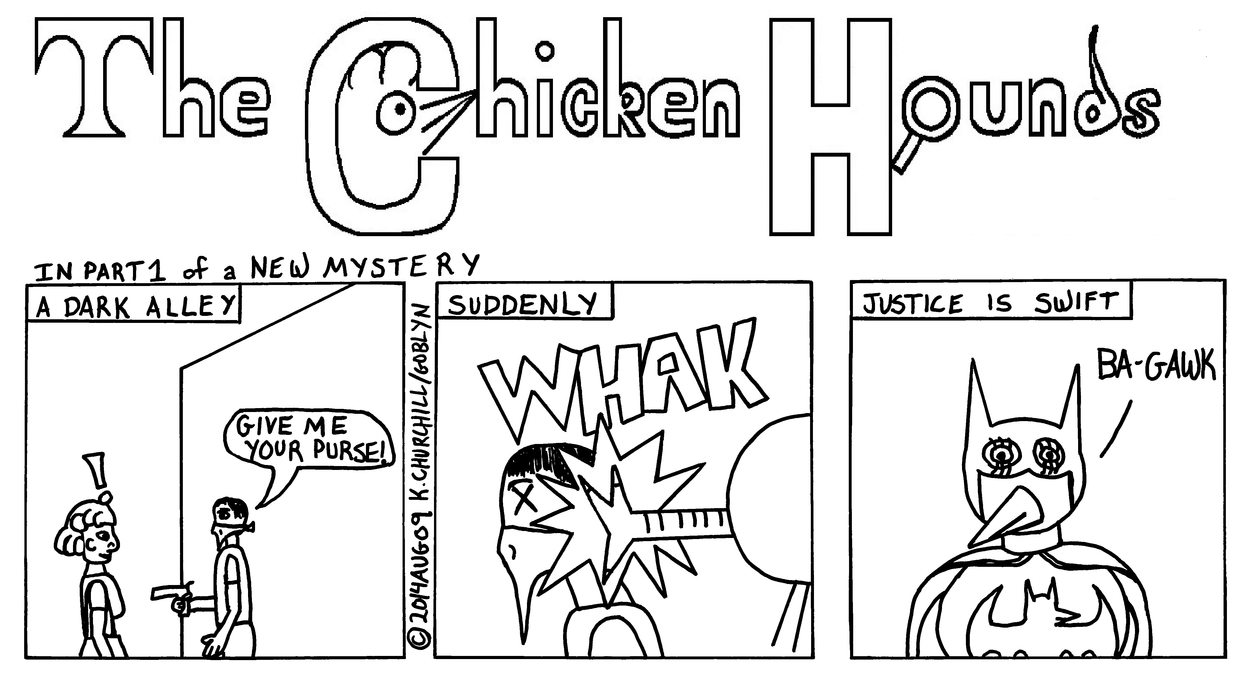 "The Chicken Hounds in the Mystery of ""Who is Bat-Chick?"""